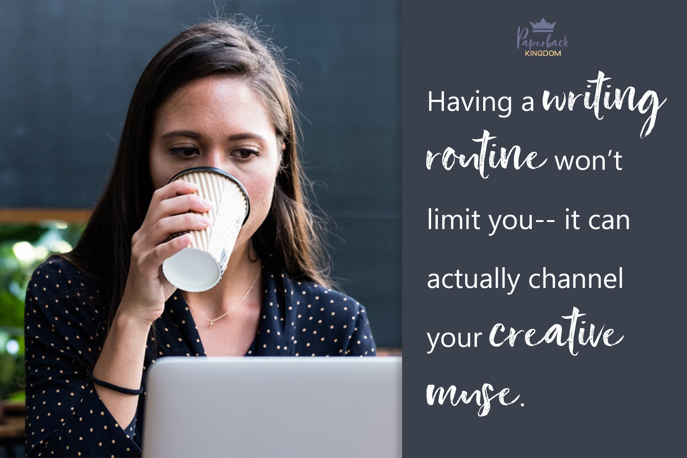 Having a writing routine won't limit you-- it can actually channel your creative muse.