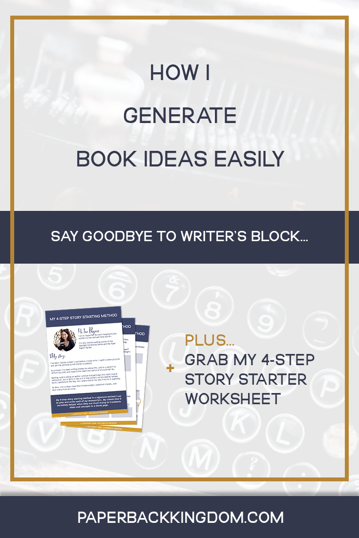 How I Generate Book Ideas Easily