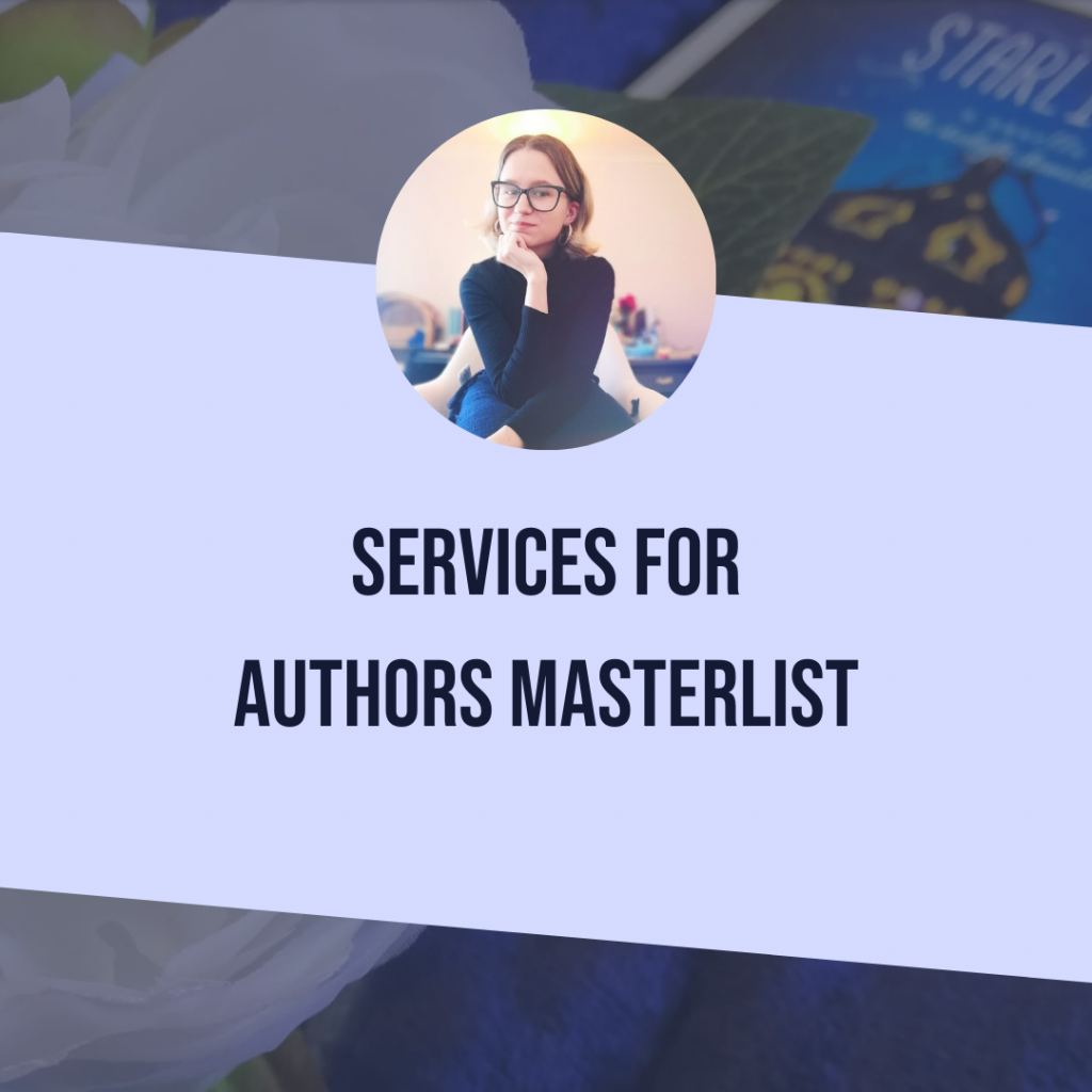 Services For Authors Masterlist (Editing, Design, Marketing, Coaches)